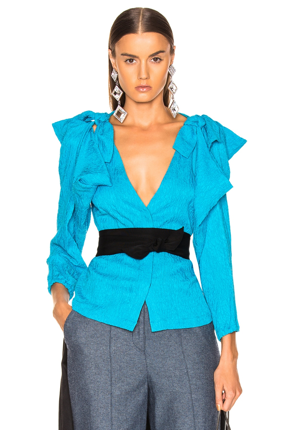 Image 1 of HELLESSY Ocean Drive Blouse in Turquoise