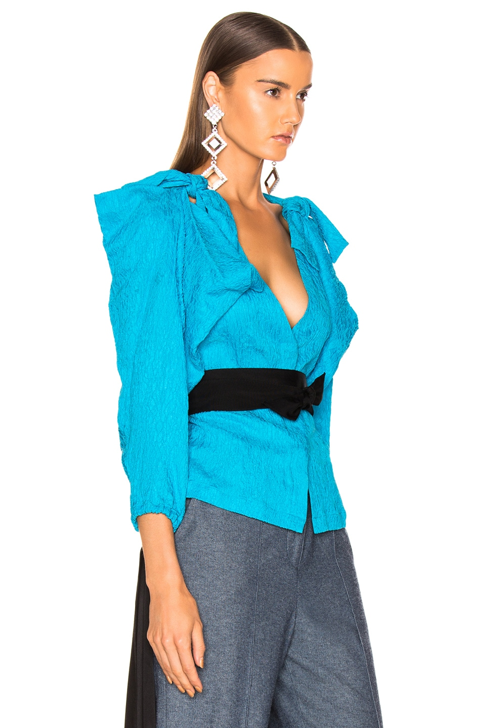 Image 2 of HELLESSY Ocean Drive Blouse in Turquoise