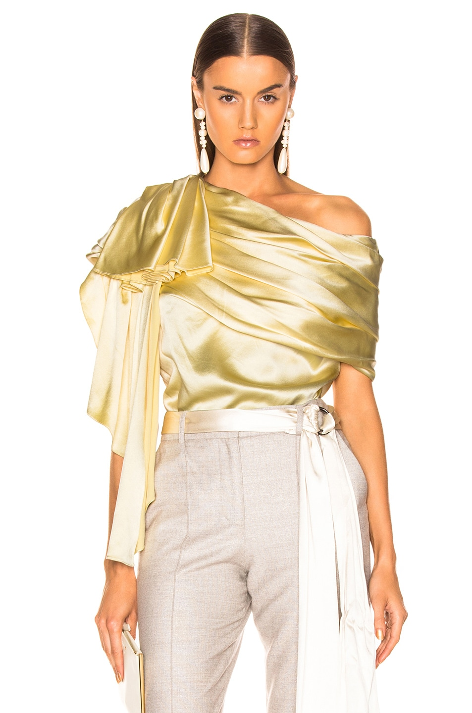 Image 1 of HELLESSY Waterfall Top in Pale Yellow
