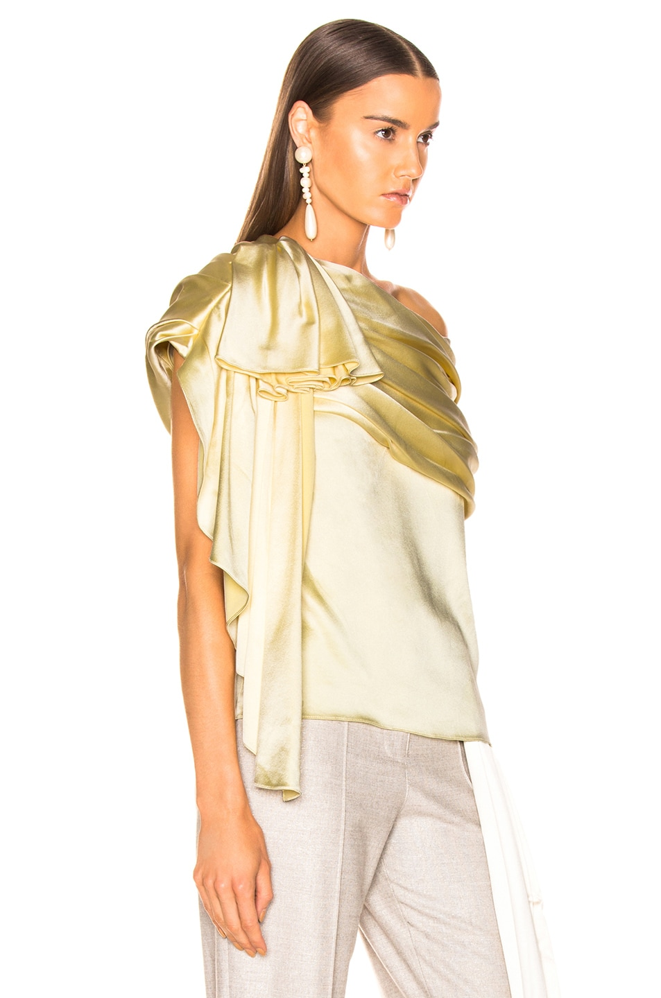 Image 2 of HELLESSY Waterfall Top in Pale Yellow