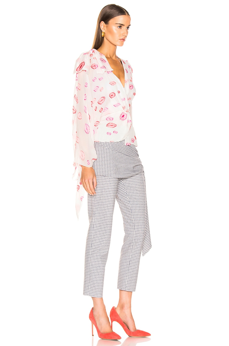 Image 2 of HELLESSY Artemis Blouse in White & Pink
