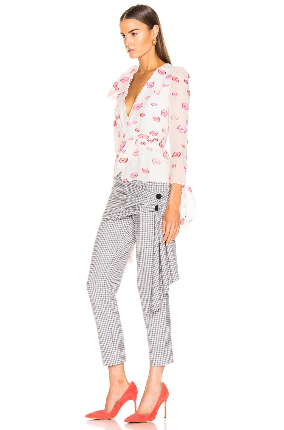 Image 3 of HELLESSY Artemis Blouse in White & Pink