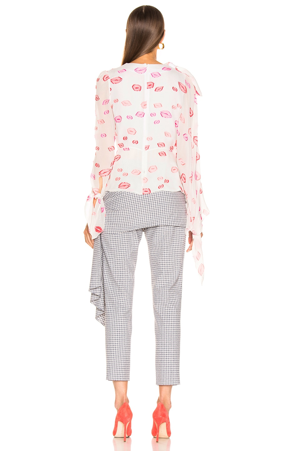 Image 4 of HELLESSY Artemis Blouse in White & Pink