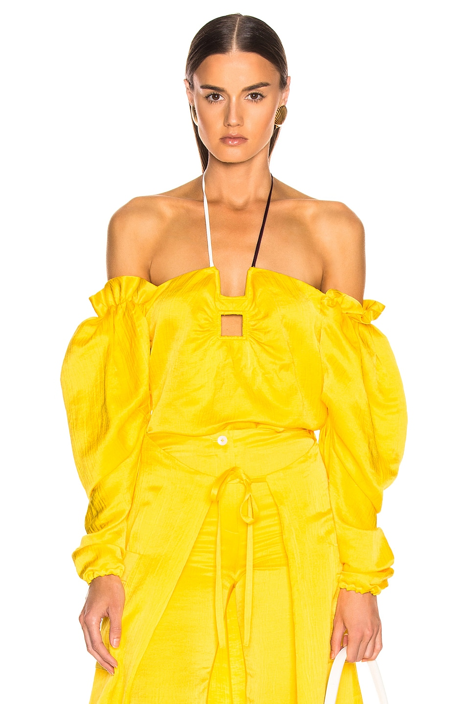 Image 1 of HELLESSY CZ Top in Daffodil