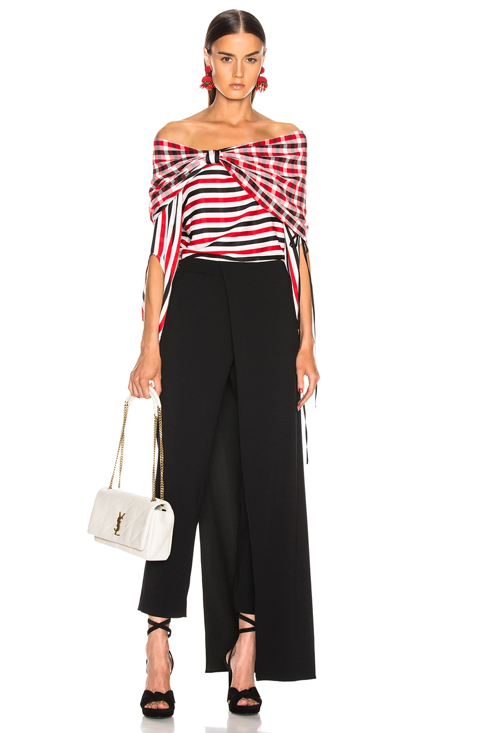 Image 6 of HELLESSY Galaxy Blouse in Red, White & Black