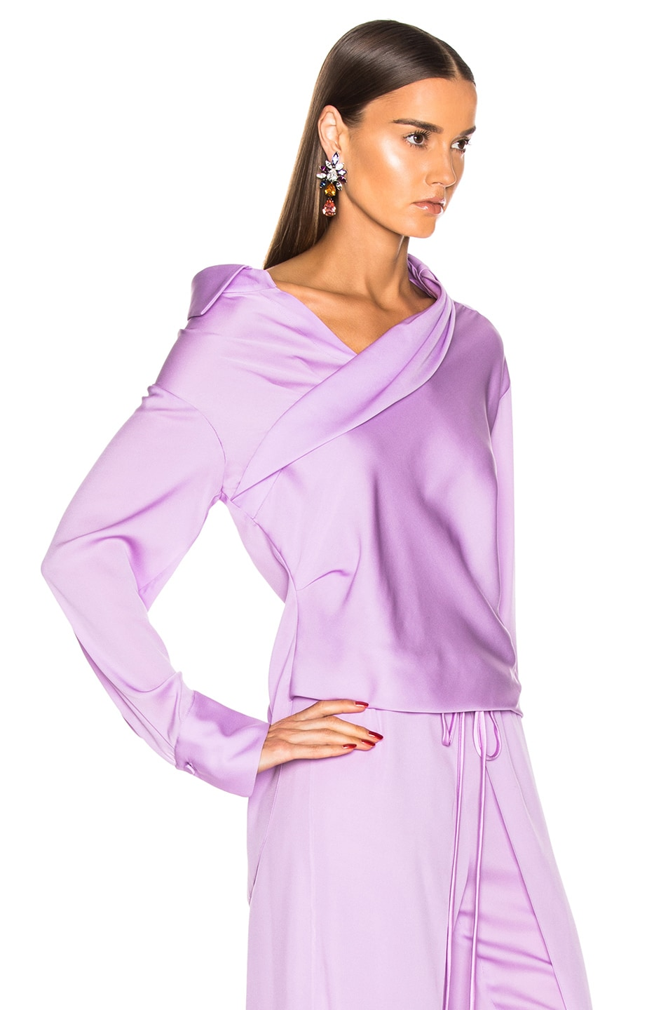 Image 2 of HELLESSY Stellar Blouse in Powder Lilac