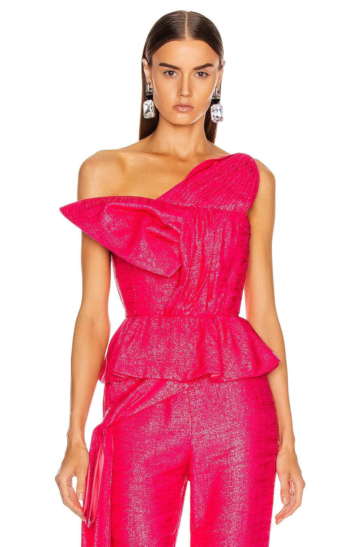 Image 1 of HELLESSY Kempner Bustier Top in Shocking Pink