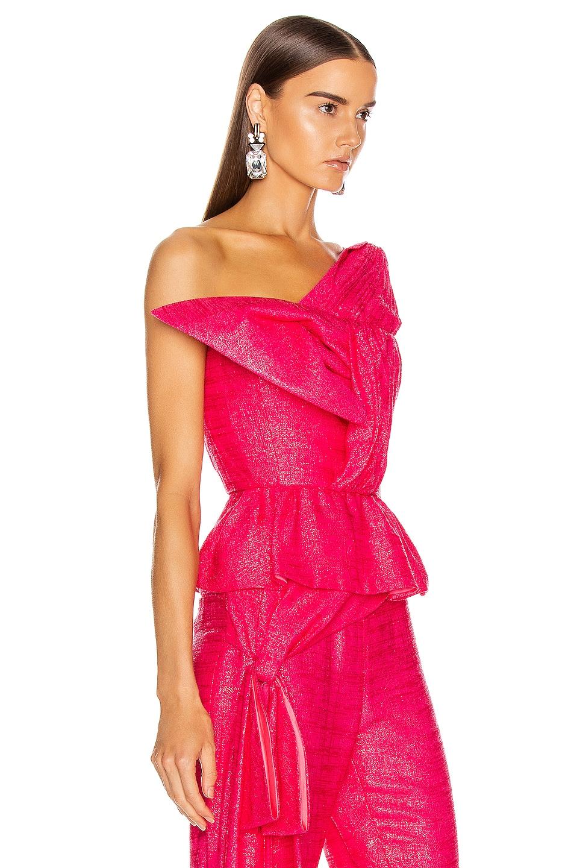 Image 2 of HELLESSY Kempner Bustier Top in Shocking Pink
