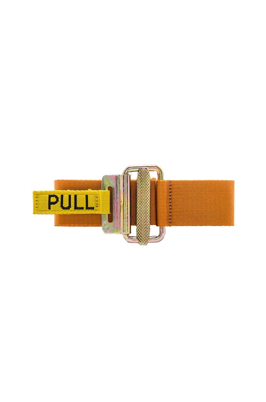 Image 1 of Heron Preston NASA Jacquard Tape Belt in Orange & Black