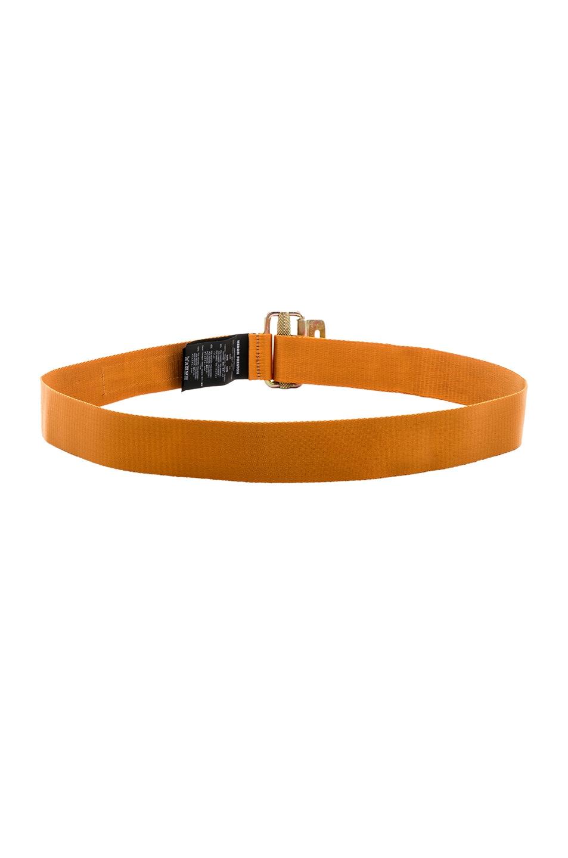 Image 3 of Heron Preston NASA Jacquard Tape Belt in Orange & Black