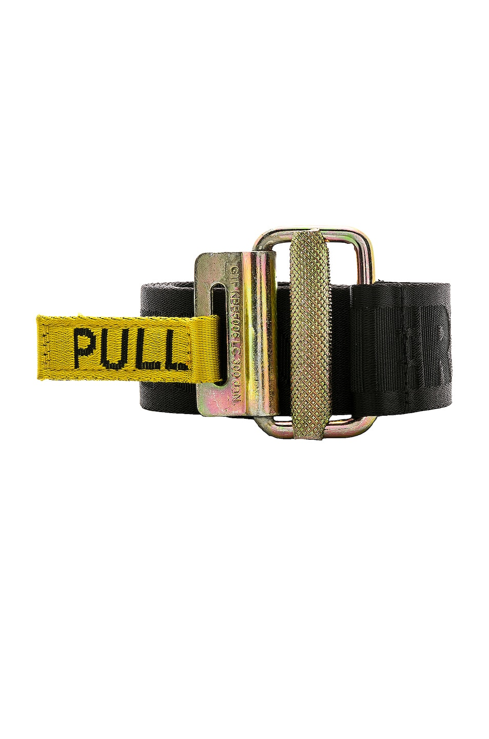 Image 1 of Heron Preston Jacquard Tape Belt in Black