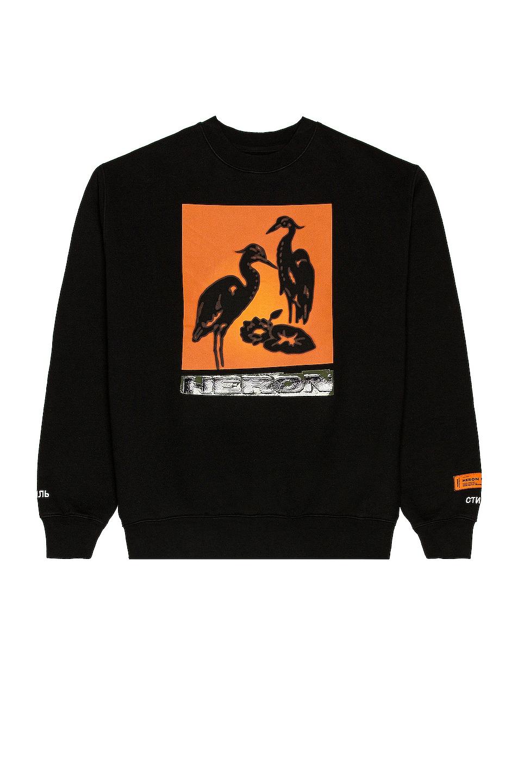 Image 1 of Heron Preston Herons Nightshift Sweatshirt in Black