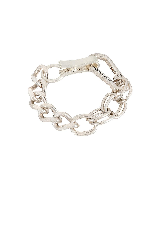 Image 1 of Heron Preston Multichain Bracelet in Silver