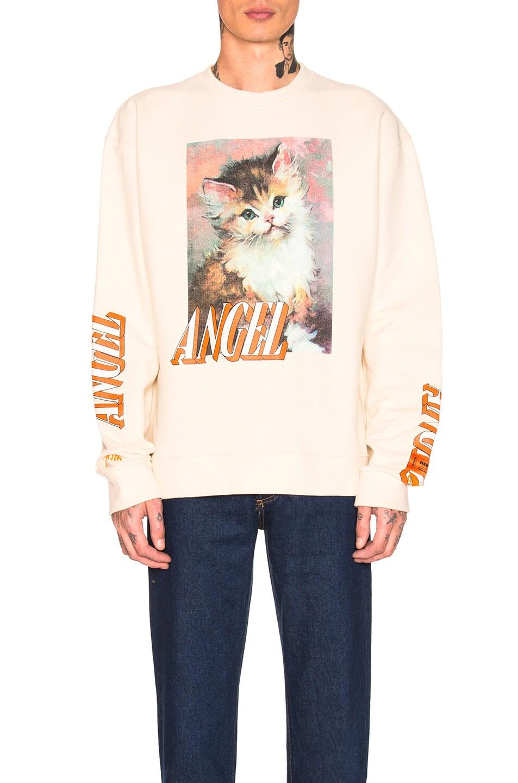 Image 1 of Heron Preston Angel Crewneck Sweatshirt in Ecru