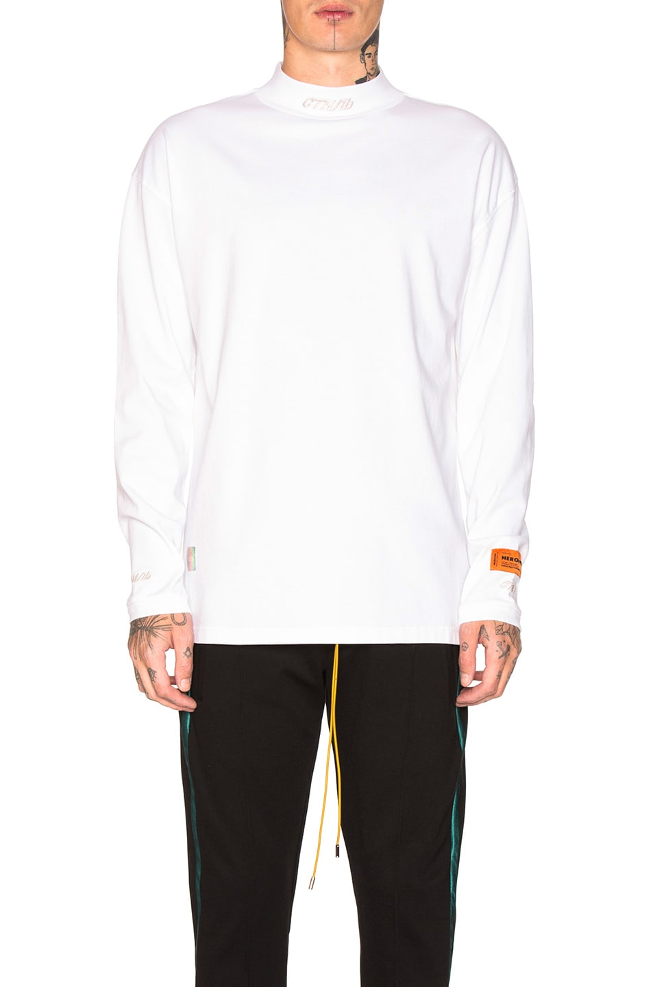 Image 1 of Heron Preston CTNMB Turtleneck in White