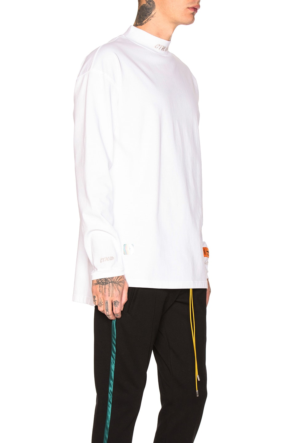 Image 2 of Heron Preston CTNMB Turtleneck in White