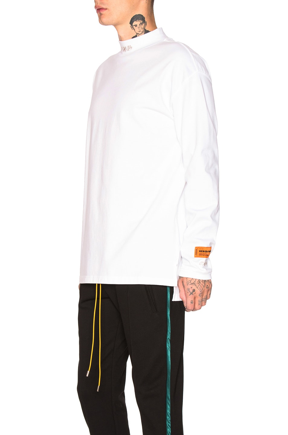 Image 3 of Heron Preston CTNMB Turtleneck in White