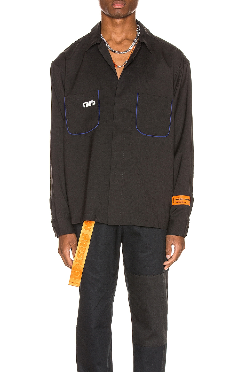 Image 1 of Heron Preston CTNMB Worker Shirt in Black