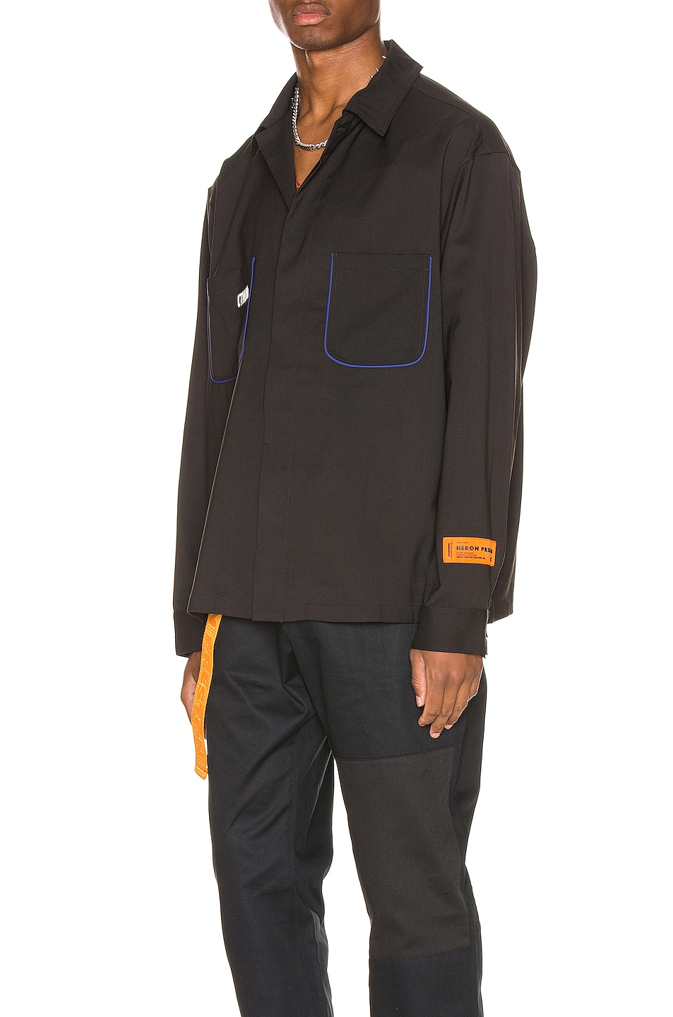 Image 3 of Heron Preston CTNMB Worker Shirt in Black
