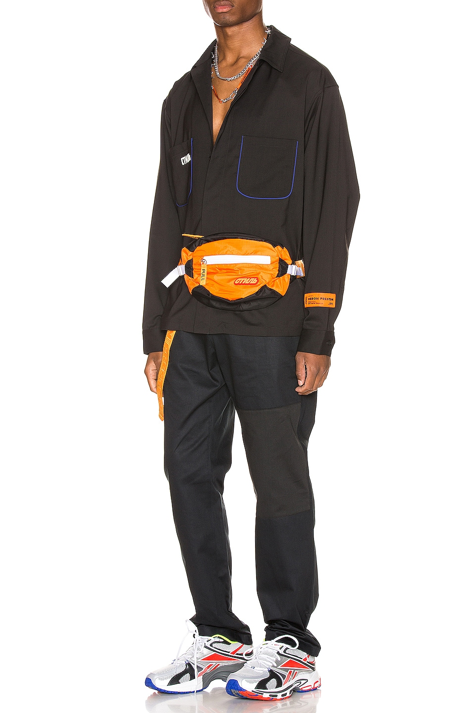Image 5 of Heron Preston CTNMB Worker Shirt in Black