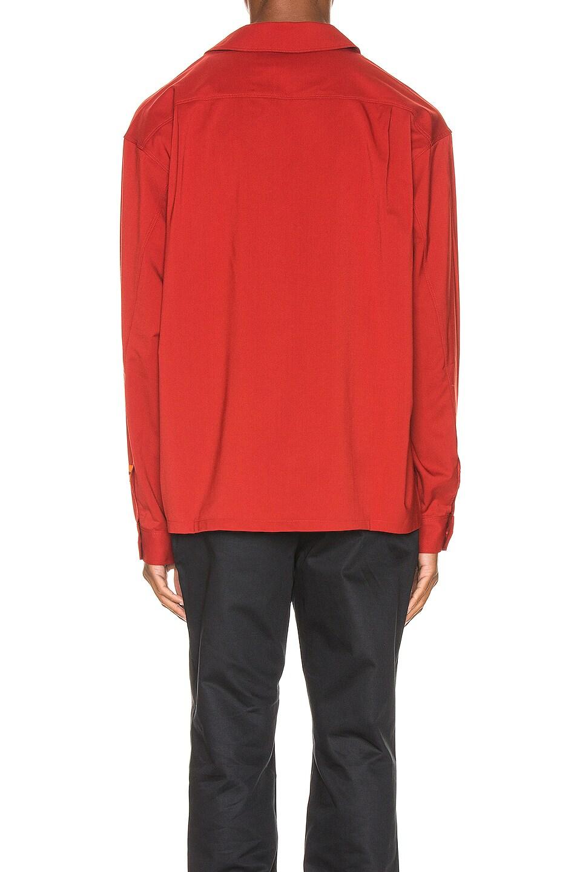 Image 4 of Heron Preston CTNMB Worker Shirt in Dark Red