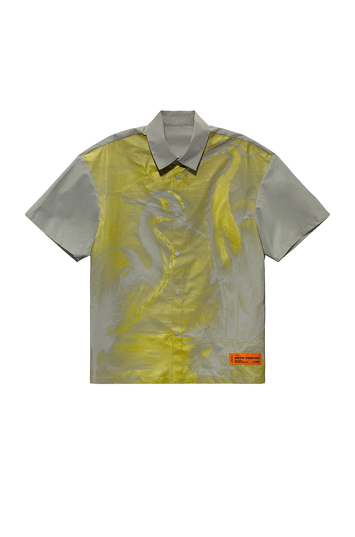 Image 1 of Heron Preston Bowling Shirt in Ice Grey