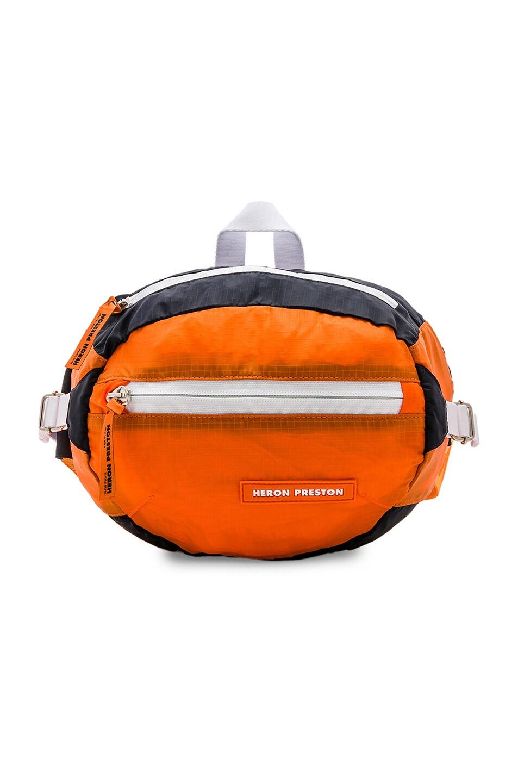 Image 1 of Heron Preston Fanny Pack in Orange & Orange