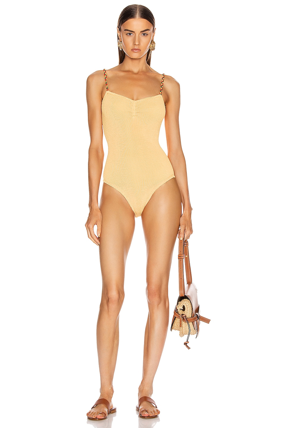 Image 1 of Hunza G Trina Swimsuit in Spice
