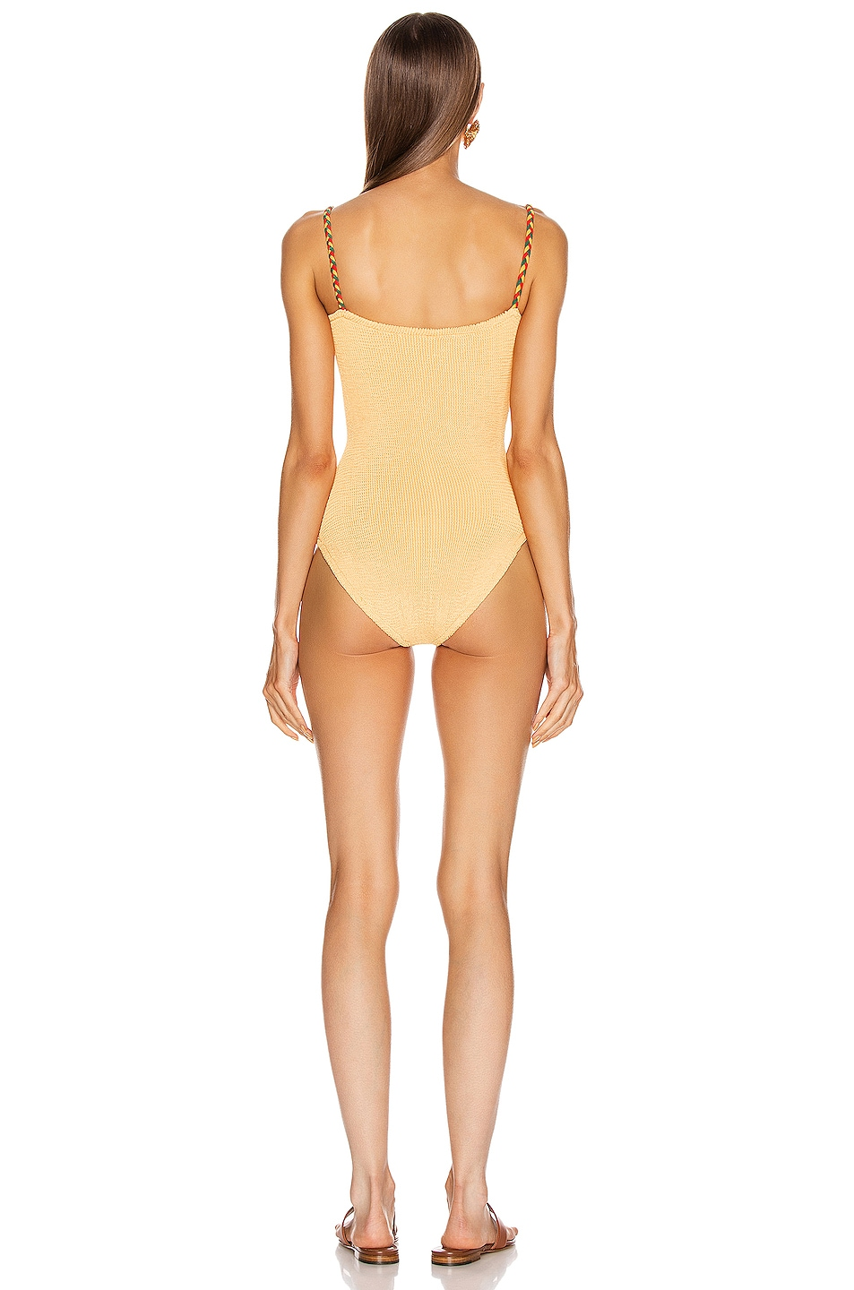 Image 3 of Hunza G Trina Swimsuit in Spice
