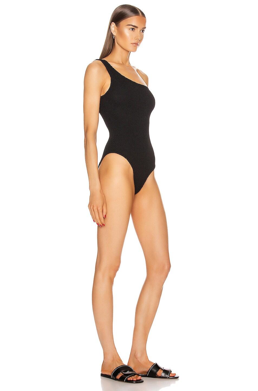 Image 2 of Hunza G Nancy Swimsuit in Black Crinkle