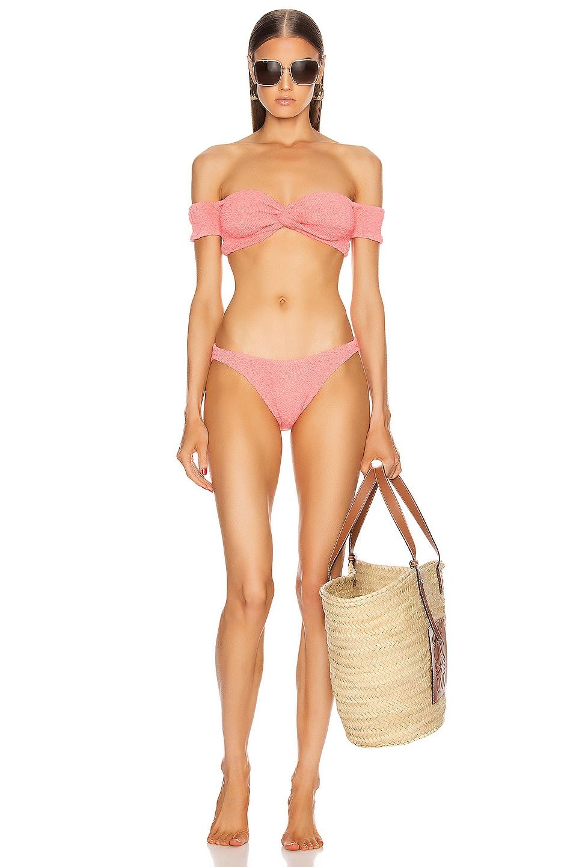 Image 1 of Hunza G Brigette Bikini in Pink Berry