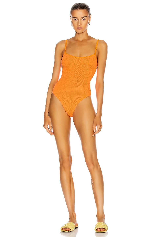 Image 1 of Hunza G Pamela Swimsuit in Orange