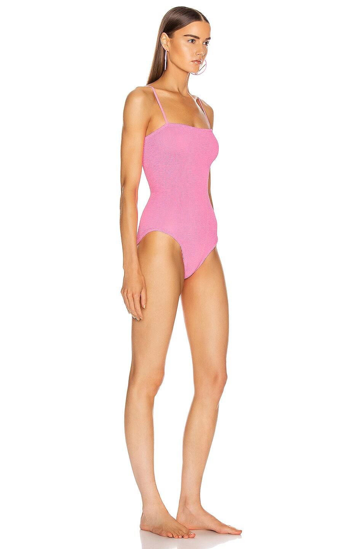 Image 2 of Hunza G Maria Swimsuit in Bubblegum
