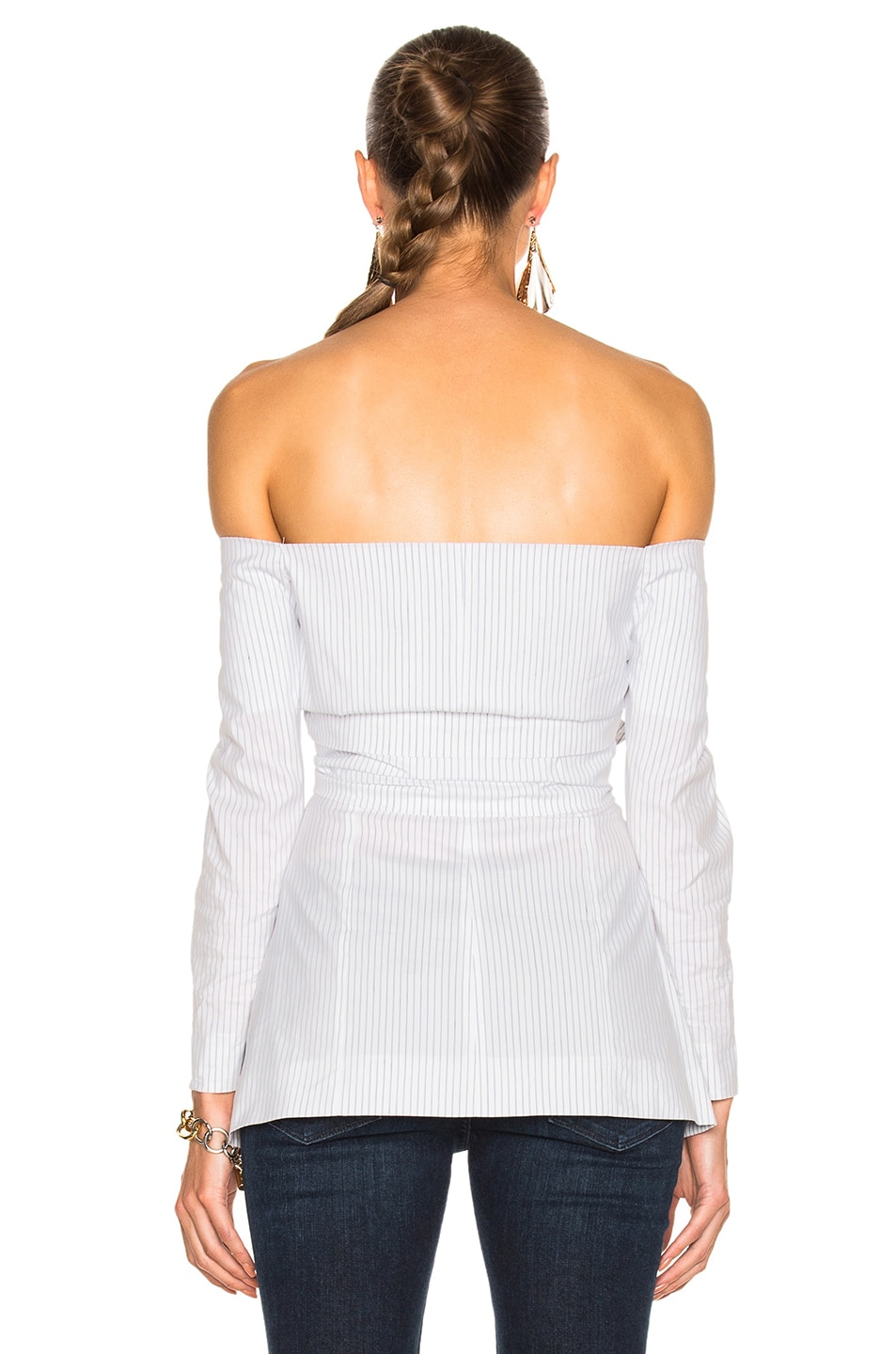Image 4 of Isa Arfen for FWRD Double Knot Long Sleeve Top in Sailor