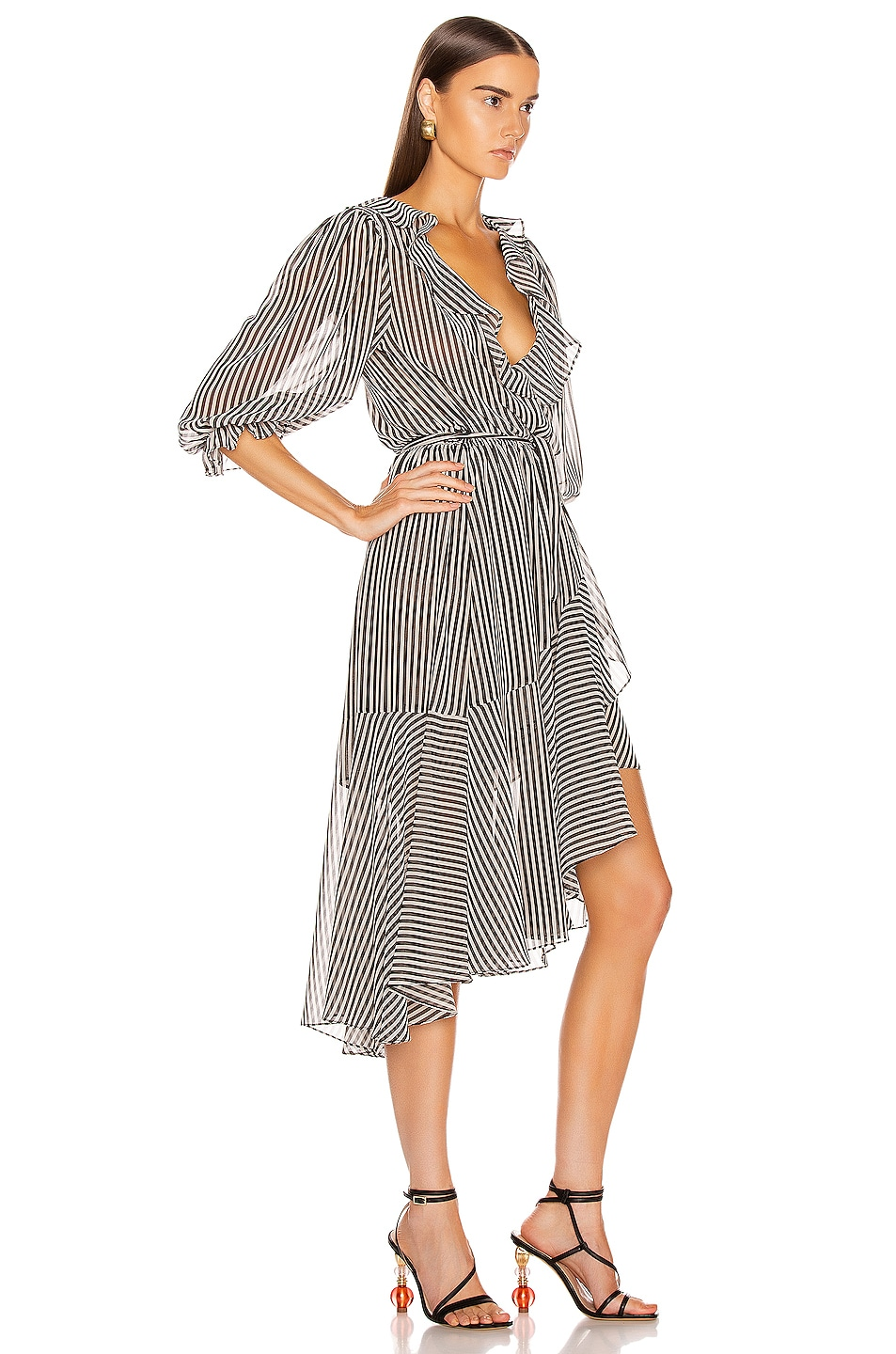 Image 2 of ICONS Objects of Devotion The Cha Cha Dress in Black & White Stripe