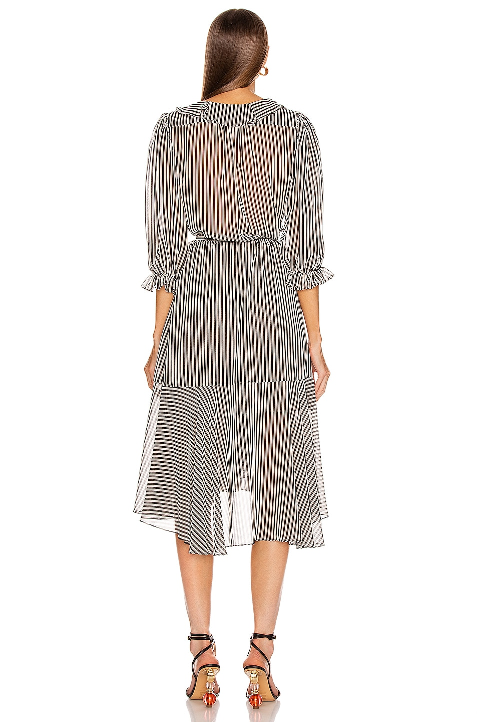 Image 3 of ICONS Objects of Devotion The Cha Cha Dress in Black & White Stripe