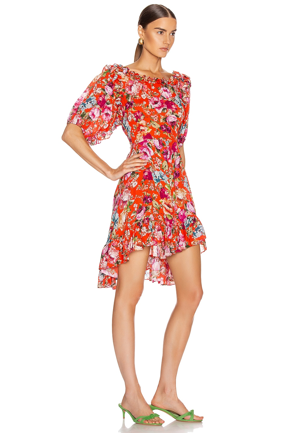 Image 2 of ICONS Objects of Devotion Babydoll Dress in Red Floral