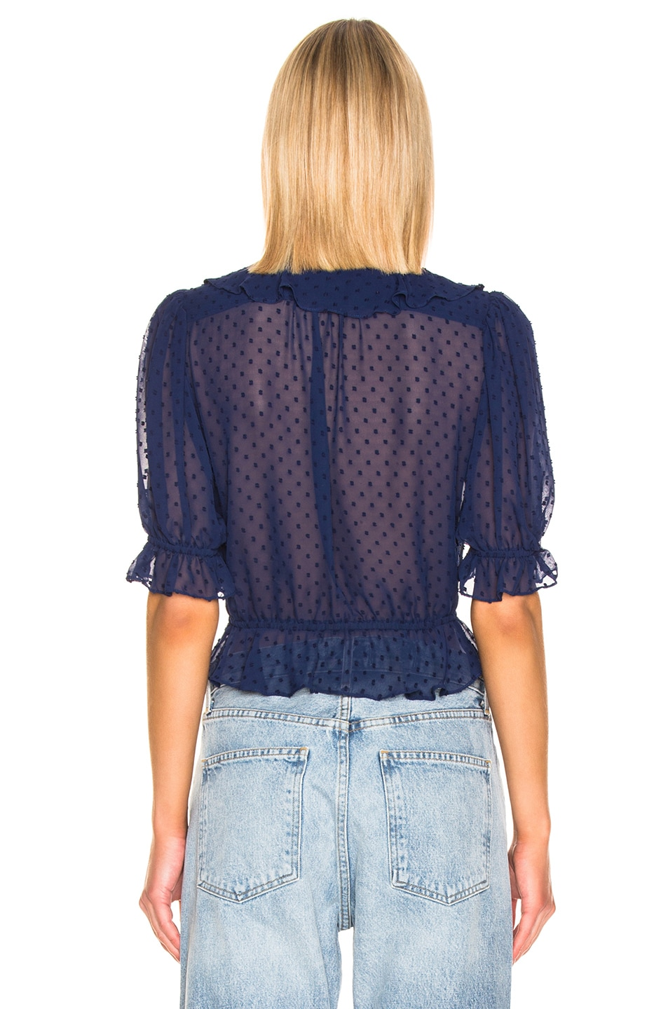 Image 3 of ICONS Objects of Devotion Cha Cha Blouse in Bright Navy