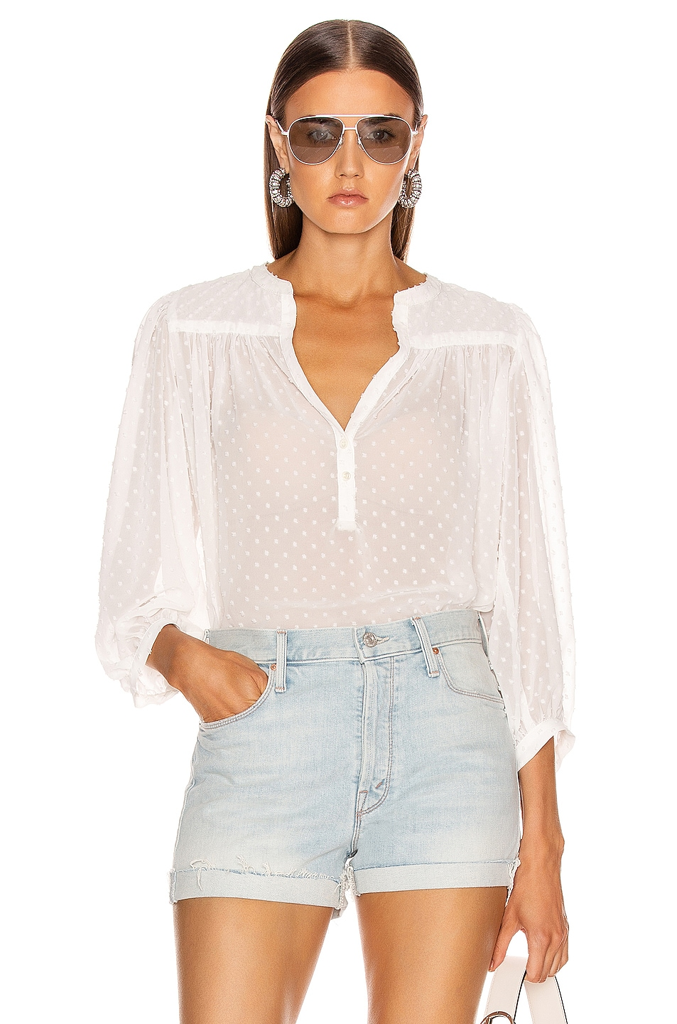 Image 1 of ICONS Objects of Devotion The Modern Poet Top in White