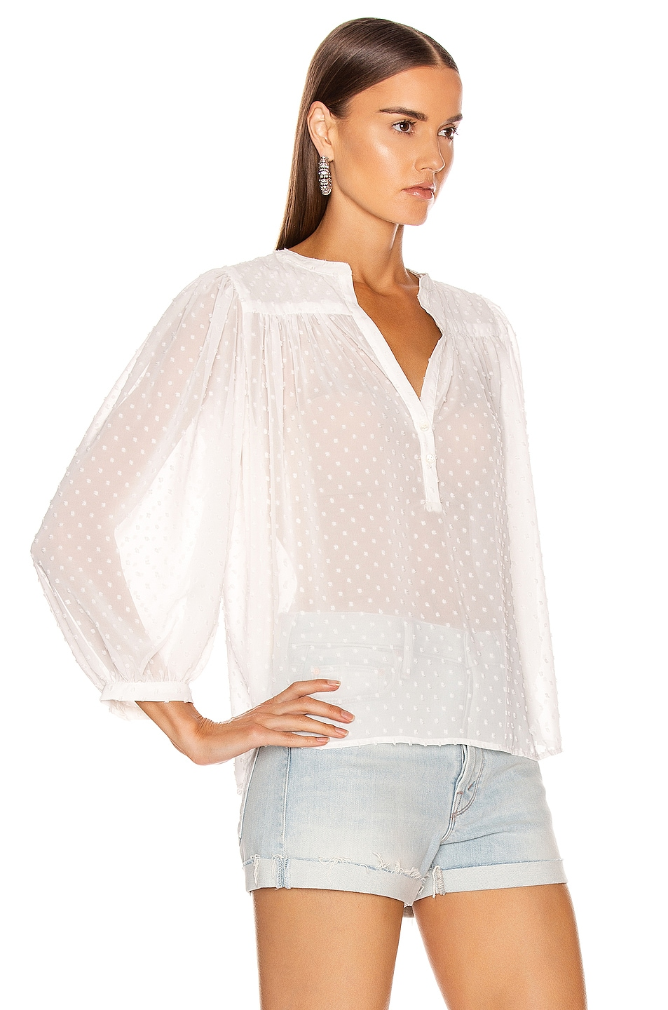 Image 2 of ICONS Objects of Devotion The Modern Poet Top in White