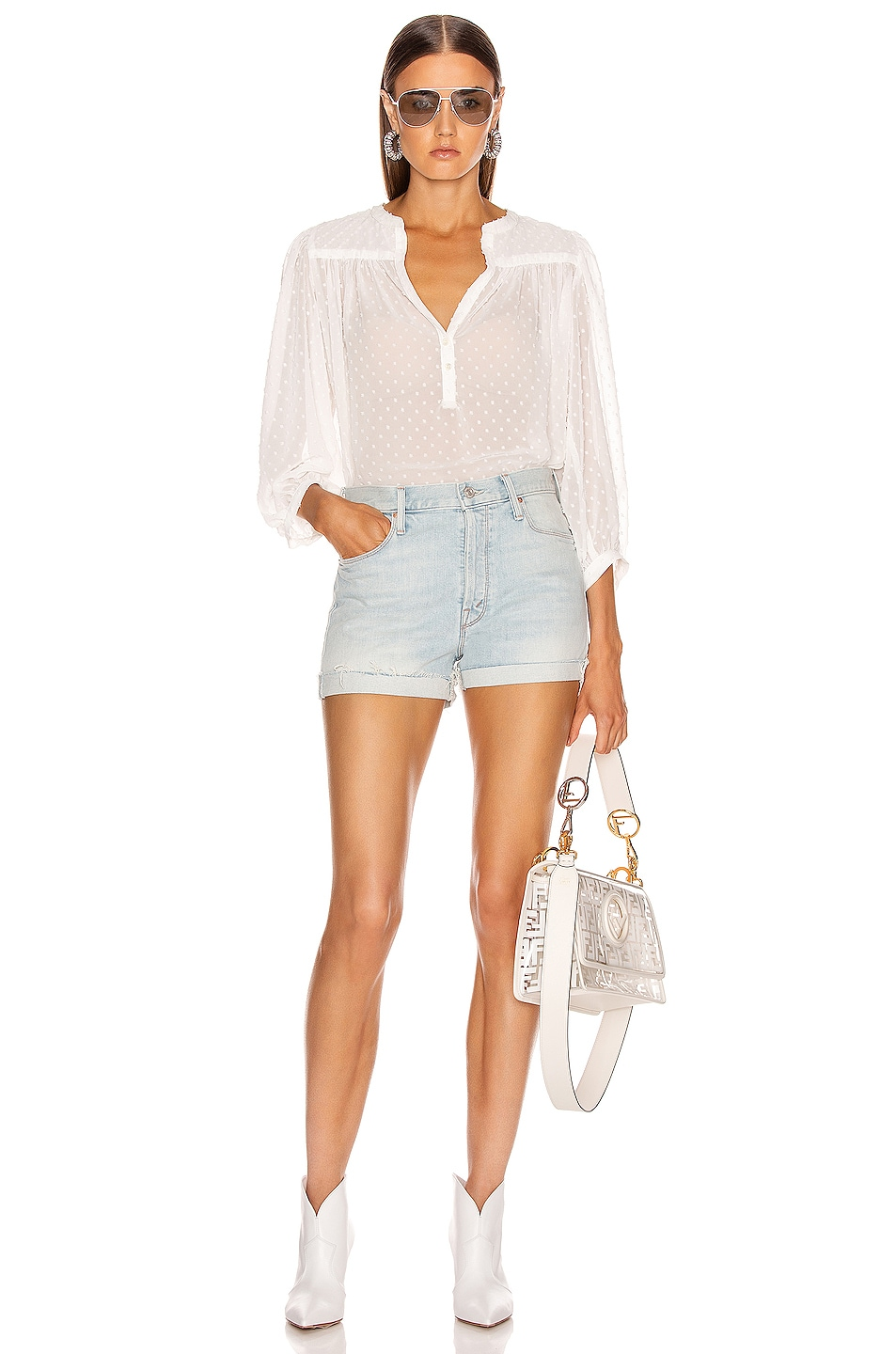 Image 4 of ICONS Objects of Devotion The Modern Poet Top in White