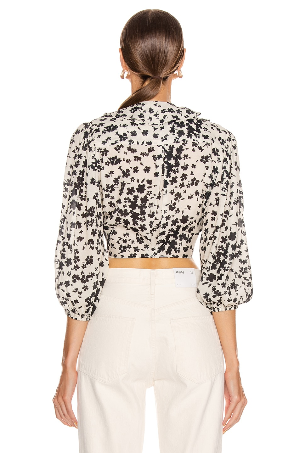 Image 3 of ICONS Objects of Devotion The Doherty Top in Ivory Black Floral