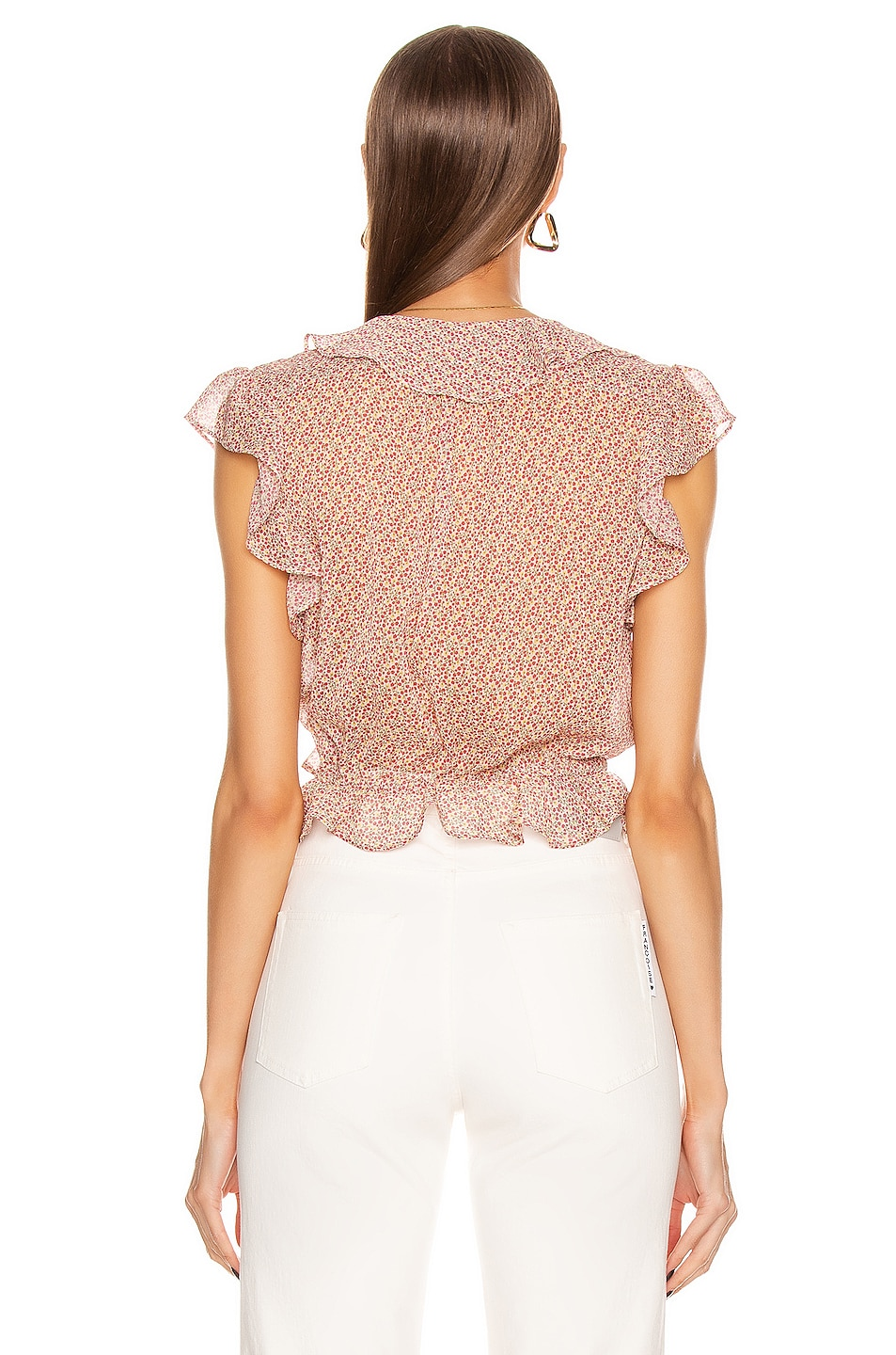 Image 4 of ICONS Objects of Devotion The Flutter Sleeve Blouse in Pink Poppy