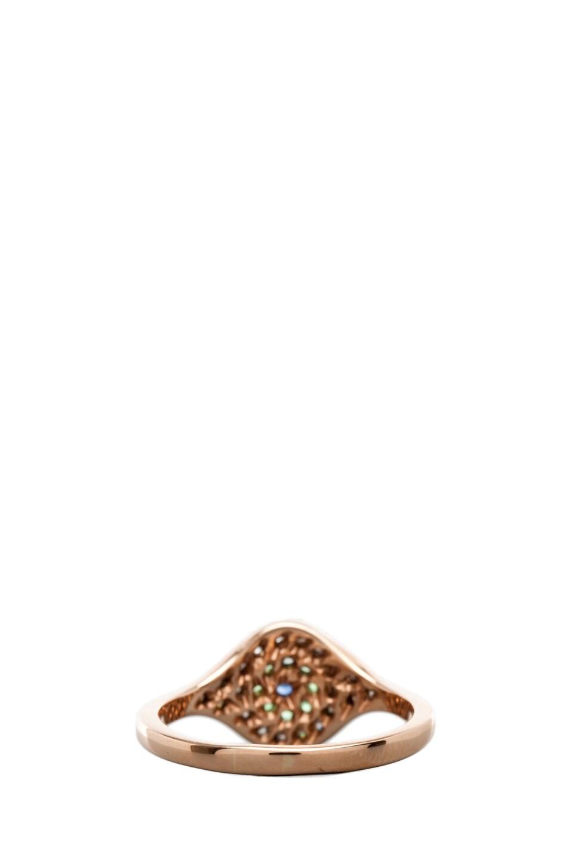 Image 3 of Ileana Makri Cat's Eye Diamond and Sapphire Ring in Pink Gold