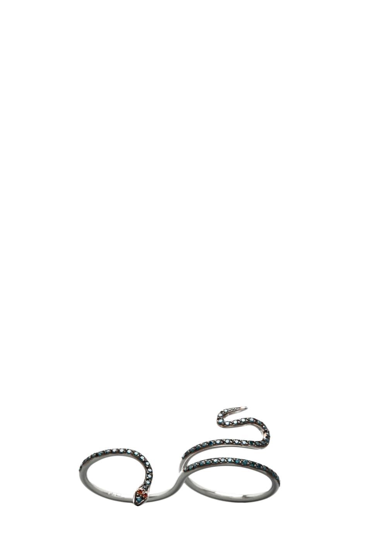 Image 1 of Ileana Makri Python Diamond Ring in White Gold