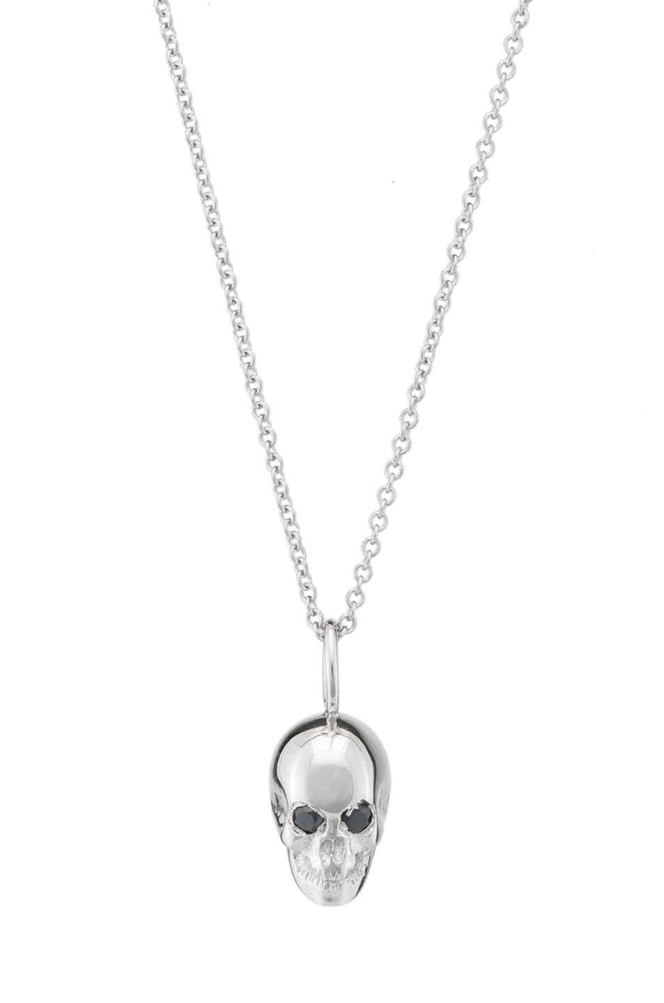 Image 1 of Ileana Makri Skull Pendant in White Gold