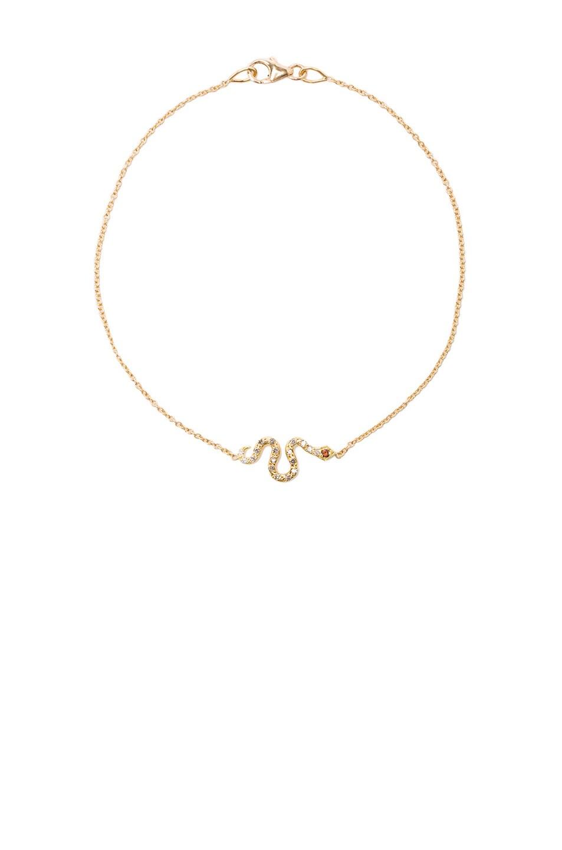 Image 1 of Ileana Makri Little Snake Bracelet in Yellow Gold