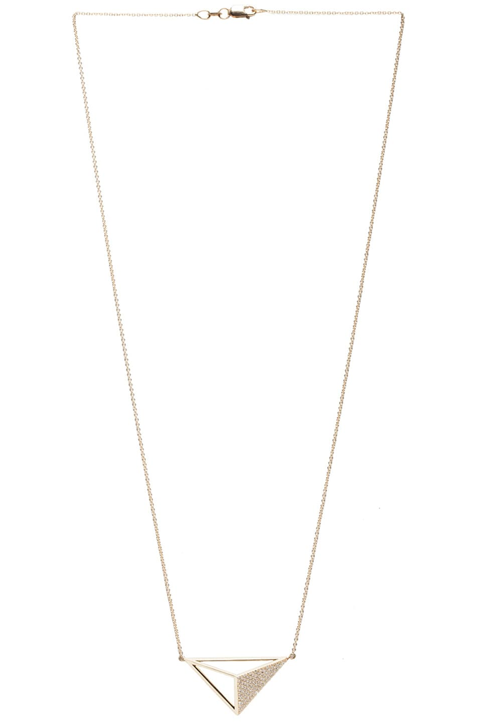 Image 1 of Ileana Makri Bermuda Triangle Necklace in Yellow Gold