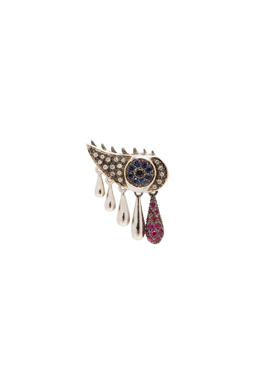 Image 1 of Ileana Makri Crying Eye SIngle Earring in White Gold