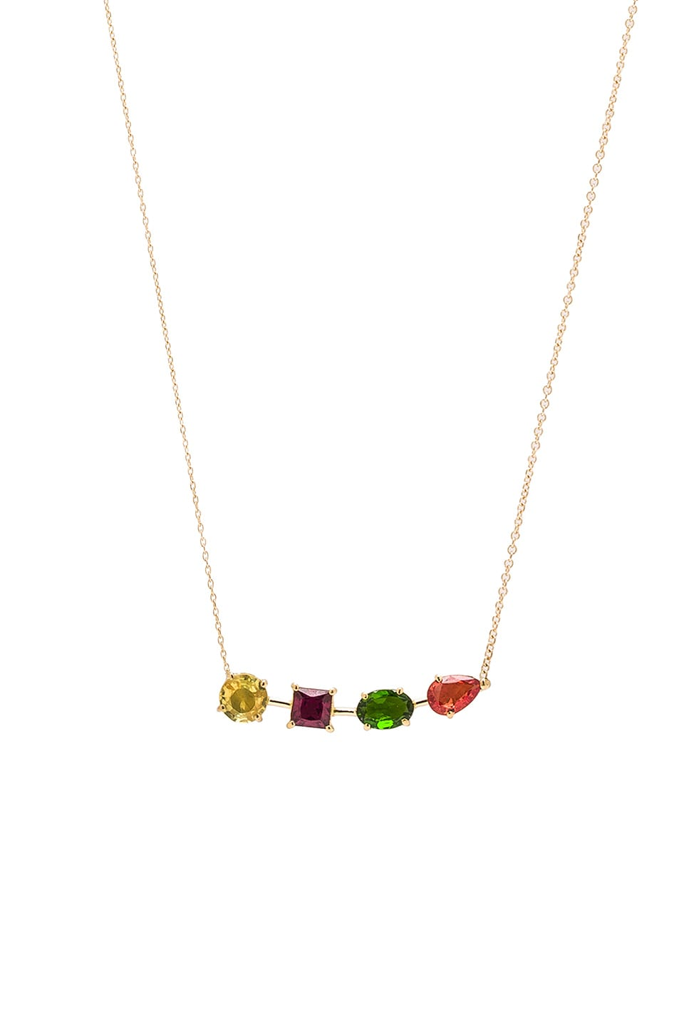Image 1 of Ileana Makri Multi Shape Branch Necklace in Yellow Gold
